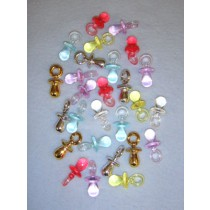 "|Pacifiers-1 1_4"" Asst Color-Pk_100"