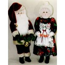 """ Pattern - 34"""" Santa & Mrs. Santa"""