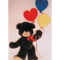 |Pattern - Happy Teddy Wall Hanging