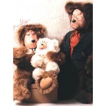 |Pattern - Porcelain Bear Family