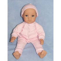"|Pink Sleeper w_hat - 22"" Doll"