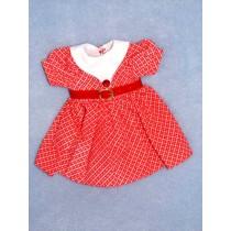 |Red Print Dress w_ Red Belt