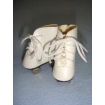 """ Roller Skates - 2"""" White"""