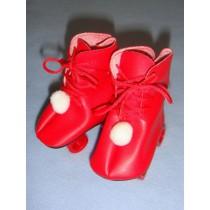 "|Roller Skates - 3 1_8"" Red"