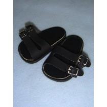 "|Sandal - 2 3_4"" Black Euro"