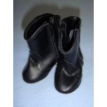 "|Shoe - Cowboy Boot - 3 1_8"" Black"