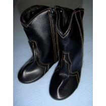 "|Shoe - Cowboy Boot - 4 1_8"" Black"