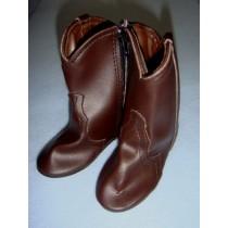 "|Shoe - Cowboy Boot - 4 1_8"" Dark Brown"