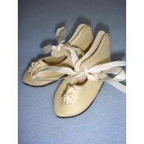 "|Shoe - French Toe w_Rosette - 3 3_8"" Cream"