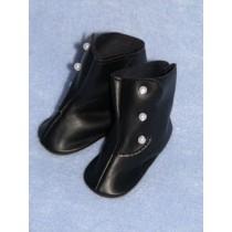 "|Shoe - High Button - 1 3_4"" Black"
