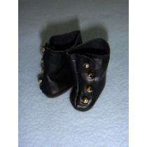 "|Shoe - High Button - 1 3_8"" Black"