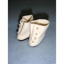 "|Shoe - High Button - 1 3_8"" White"