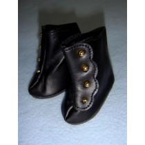 "|Shoe - High Button - 2 3_8"" Black"