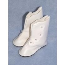 "|Shoe - High Button - 2"" White"