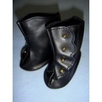 "|Shoe - High Button - 3 5_8"" Black"