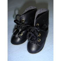 "|Shoe - Hiking Boots - 3 1_8"" Black"