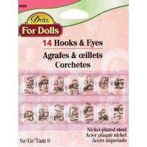 |Size O Nickel Hook & Eyes - Pkg_14 sets