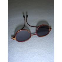 "|Sunglasses - 3"" Tortoise Wire"