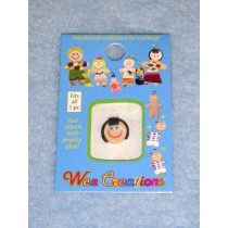 |WC Girl Face - Fair Skin - Black Short Hair