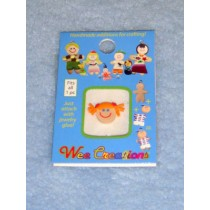 |WC Girl Face - Fair Skin - Orange Pigtails