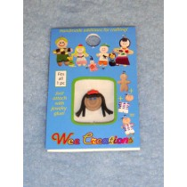 |WC Girl Face - Tan Skin - Black Long Hair