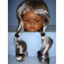 """ Wig - Indian Brave - 16-17"""" Silver"""