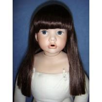 """ Wig - Suzie - 16-17"""" Dark Brown"""