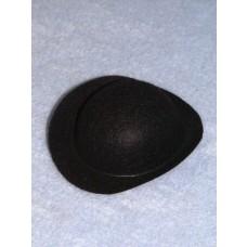 """Hat - Derby - 3"""" Black"""