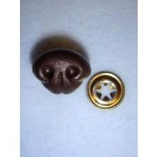 Nose - Bear - 25mm Brown Pkg/10