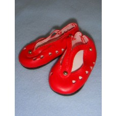 "|Shoe - V-Strap w/Cutouts - 3"" Red"