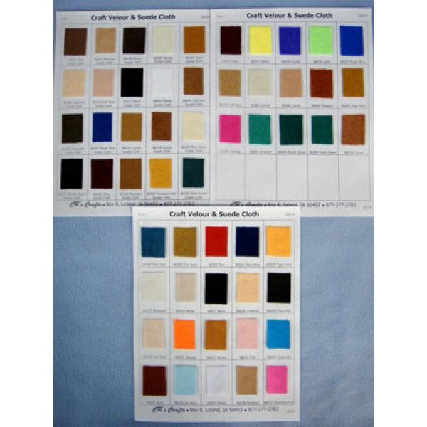 Samples Craft Velour Suede Cloth