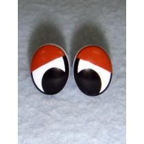 Eye - Oval 15mm Black_Brown Pkg_6