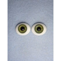 Doll Eye - Flat Back Glass - 12mm Green