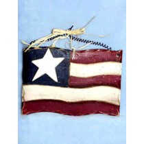 "10"" Wooden Flag Plaque"