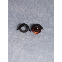 10mm Black Eyelids -pair Pkg_25