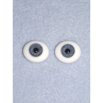 Doll Eye - Flat Back Glass - 10mm Blue