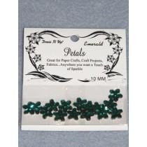 10mm Petals - Emerald