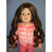 "|11-12"" Light Brown Roxanne Wig"