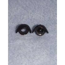 12mm Black Eyelids -pair Pkg_5