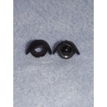 12mm Black Eyelids - pair Pkg_25