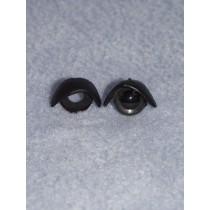 12mm Black Eyelids - Pkg_5 pair