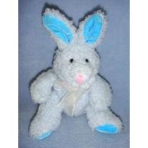 " 7"" Blue Tinsel Chenille Bean Bag Bunny"
