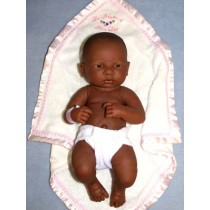 "14"" La Newborn - First Day - African American Girl"