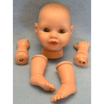 "14"" Snuggle Baby w_Molded Hair"