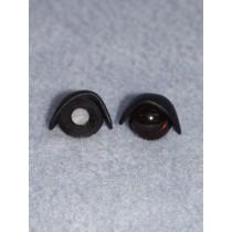 14mm Black Eyelids pair  - Pkg_5