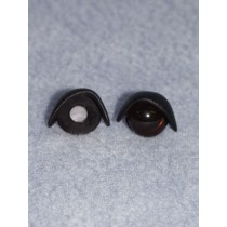 14mm Black Eyelids -pair Pkg_25