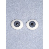 14mm Blue Flat Back Glass Eyes