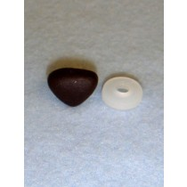 Nose - Soft Triangle - 15mm Dark Brown Pkg_25