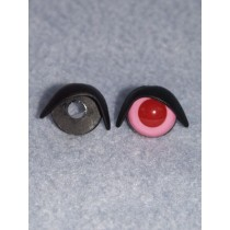 16mm Black Eyelids - pair Pkg_25