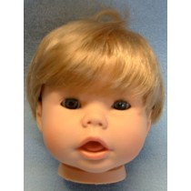 "19"" Blond Snuggle Kids Head w_Blue Eyes"